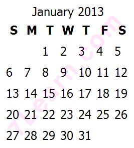 date کد PHP ساختن جدول تاریخ و تقویم