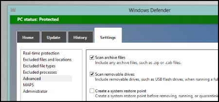 p6 Win8 Defender4 اسکن اتوماتیک فلش درایو ها توسط آنتی ویروس ویندوز 8